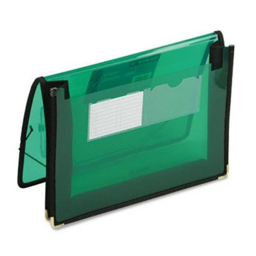 2   Expansion Ultracolor Wallet  Poly  Letter  Translucent Green