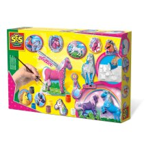 Ses Creative Children's Fantasy Horses Casting And Painting Set 01155
