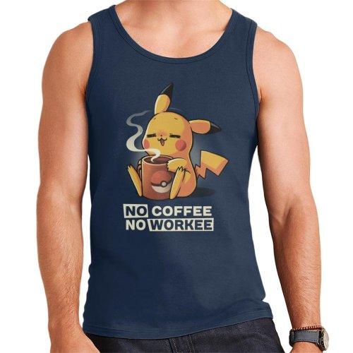 No Coffee No Workee Pikachu Men's Vest