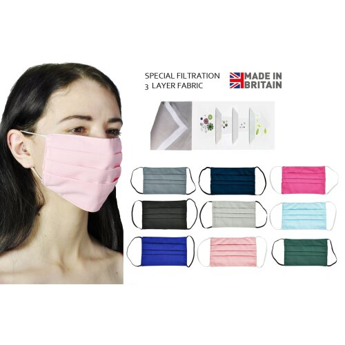 Face Masks for School Girls Boys Teenager Cotton Reusable Washable Ages 7-18