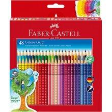 Faber-Castell 48 Colour Grip Water-soluble Colour pencils  112449