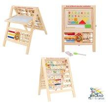 7 in 1 Kids Educational Easel Blackboard Multi-Activity Drawing Board Alphabet