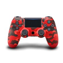 Unofficial Wireless Controller for PS4 Remote for Sony Playstation 4 - Red Camouflage