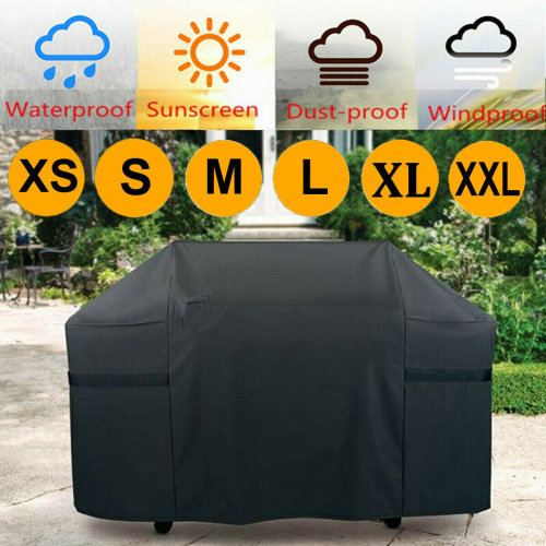 (XL:170*61*117cm) BBQ Cover Heavy Duty Waterproof Rain Barbeque Grill Gas Garden Protector XS-XXL