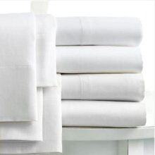 Linens Limited 100% Egyptian Cotton 400 Thread Count Flat Sheet, White, Super King