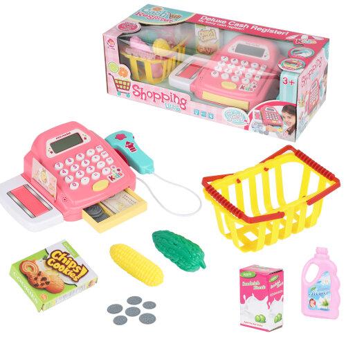 Kids Supermarket Shop Role Play Cash Register Toy Play Food