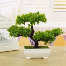 Bonsai Tree with Pot Artificial Plant Decoration Home Office Desk windowsill UK