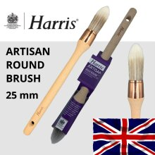 Harris Artisan Round Brush 25mm Sash Paint Brushes Pointed Synthetic Fine Detail