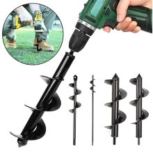 Auger Spiral Hole Drill Bit Garden Plant Tool Earth Planter Post Hole Digger