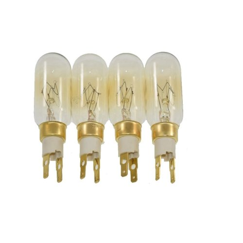 4 x American Style T Click 40W 240V Fridge Freezer Bulb Lamp Fits Whirlpool