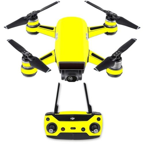 Mightyskins DJSPCMB-Solid Yellow Skin Decal for DJI Spark Mini Drone Combo Sticker - Solid Yellow