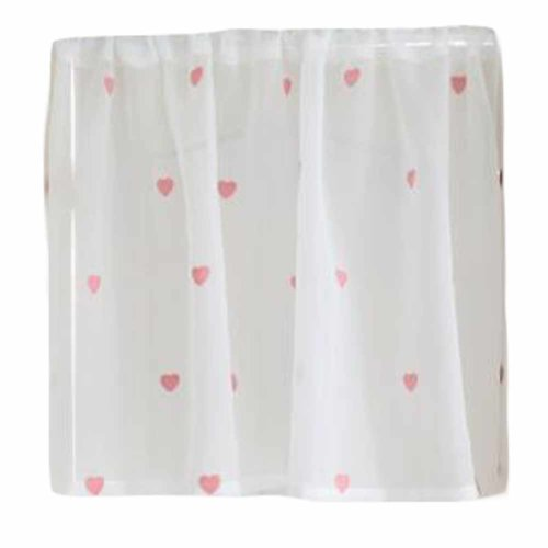 Heart Patterned Cafe Kitchen Curtains, Patterned Kitchen Curtains