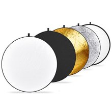Neewer 11 8 3030 Centimeter Portable 5 in 1 Reflector Kit Translucent Silver Gold White and Black Multi Disc Light