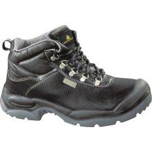 Delta Plus SAULT Split Leather Safety Work Boots Black (Sizes 7-12)