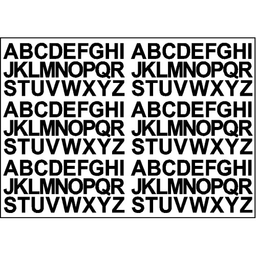 (Black) Alphabet Letters Stickers Label Self Adhesive Peel Off Sticky 1.8cm High