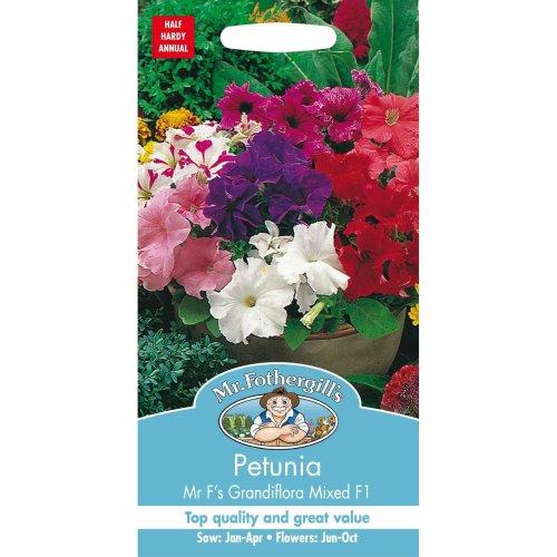 Mr Fothergills - Pictorial Packet - Flower - Petunia Mr F's Grandiflora Mix F1 - 120 Seeds