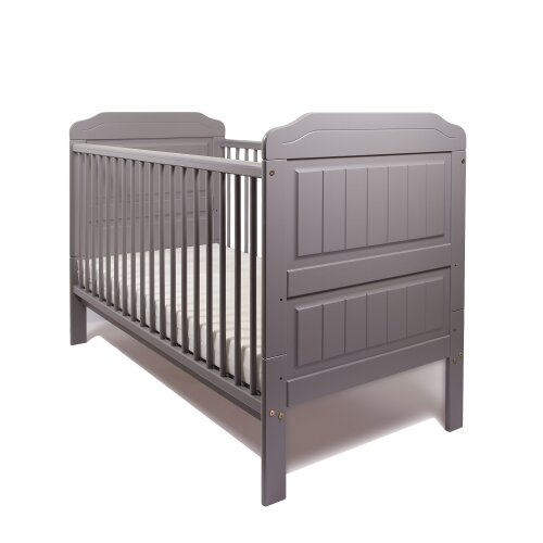 (Grey) Stanley Baby Cot Bed Only - Large and Convertible
