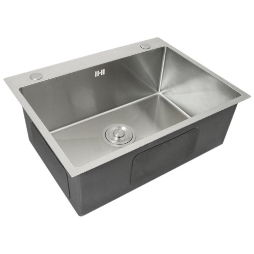 Kitchen Sink Stainless Steel Square Handmade Commercial Single Bowl