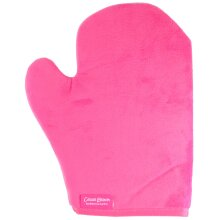 Cocoa Brown Double Sided Velvet Tanning Thumb Mitt Pink