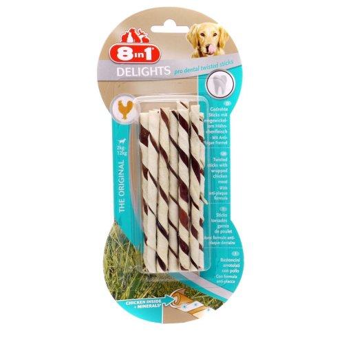 8in1 Dog Delights Dental Twist Sticks 55g (Pack of 6)