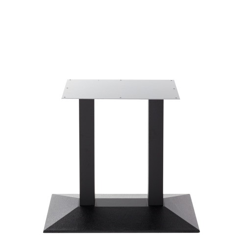 Black cast iron pyramid table base - Twin - Dining height - 730 mm