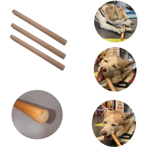 Hard Wood Dog Natural Chewable Chew Play Toy Stick Large Pack of 3