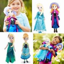 50 CM Frozen Snow Queen Elsa Stuffed Doll Princess Anna Elsa Doll Toys Kids Toys Halloween Birthday Gift