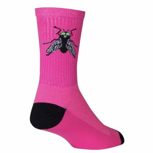 """Socks - Sockguy - 6"""" Crew The Fly S/M Cycling/Running"""