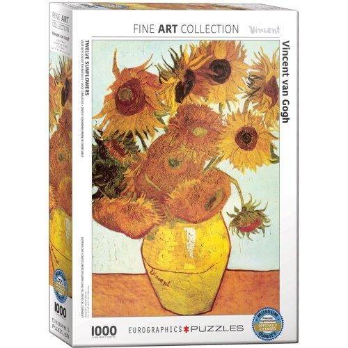 Eg60003688 - Eurographics Puzzle 1000 Pc - Twelve Sunflowers /van Gogh