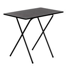 Folding Laptop Desk PC Home Office University Wood Study Student Table - Black