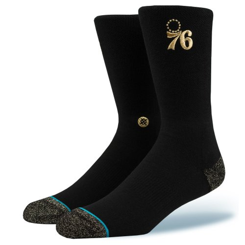 Stance NBA Sixers Trophy Socks - Black  Large