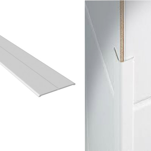 Corner Wall Protector White Plastic Flexi Angle 50mm x 50mm x 2.5m