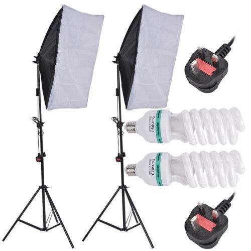 2pk 135W Photography Studio Lighting Stands & Accessories