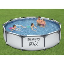 Bestway Steel Pro MAX Swimming Pool Set Pool Frame Outdoor Family Pond Garden