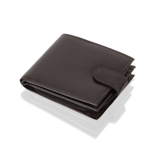 "Woodland Leather Black Bi Fold 4.5"" RFID Multi Pocket Wallet With Coin Pocket"