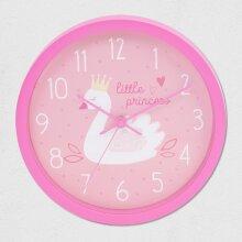 Swan Princess Pink Wall Clock