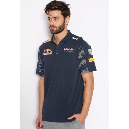 (L) Puma RBR Redbull Racing F1 Motorsport Mens Team Polo Tee Shirt