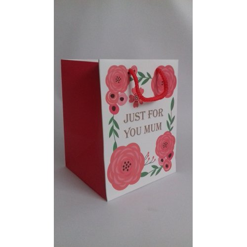 "Just For You Mum Gift Bag - Size Approx 9.5"" x 7.5"""