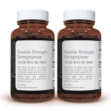 Double Strength Serrapeptase x 180 Tablets(2 bottles of 90 tablets) - 120,000 SPUs PER Tablet - 6 Months Supply!