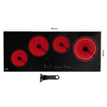 Built-In Electric Hob Ceramic Glass Cooker 4 Zone Touch 6400W NJ CH-90