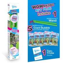 WOWMAZING Giant Bubbles Kit Plus - Big Bubbles Kit for All Ages