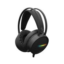 White Shark Ocelot Gaming Headset | PC Headphones LED Stereo Microphone