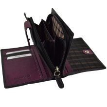 Ladies Compact Smooth Leather Zipped Purse/Wallet by Golunski; Zen Collection