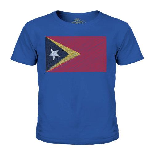 Candymix - East Timor Scribble Flag - Unisex Kid's T-Shirt