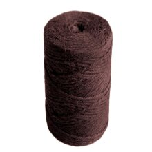 35m Dark Brown 6 Ply Jute Thread for Macrame or Dreamcatcher Crafts