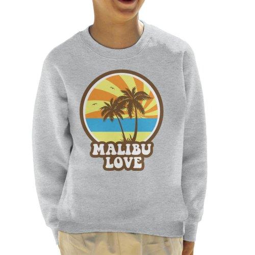 Malibu Love Retro Sunset Kid's Sweatshirt