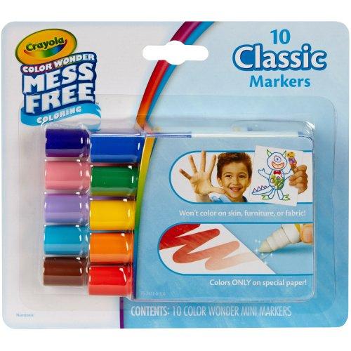 Crayola Color Wonder Mini Markers 10/Pkg-Classic