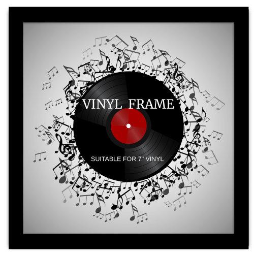 "7"" Vinyl Oxford Black Frame - Glass Window"