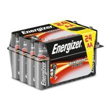 24 x Energizer Alkaline Power AA LR6 Batteries Bulk Pack Tub