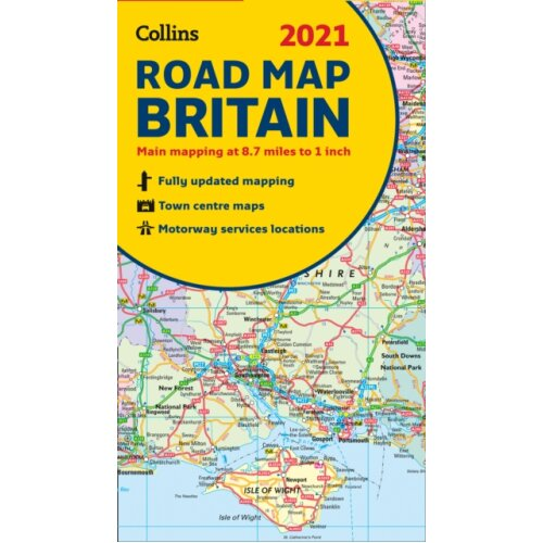 GB Map of Britain 2021 by Collins Maps